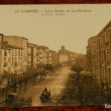 Postales: LOGROÑO (LA RIOJA), CALLE BRETON DE LOS HERREROS, L. ROISIN 12, SIN CIRCULAR. Lote 133554818
