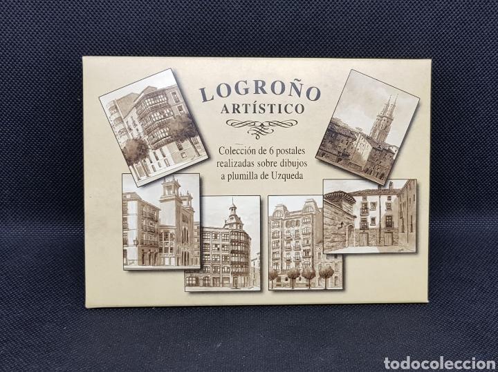 Postales: POSTALES POSTAL LOGROÑO ARTISTICO ANTIGUO - taquio uzqueda - car115 - Foto 2 - 30800597