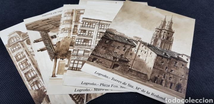 Postales: POSTALES POSTAL LOGROÑO ARTISTICO ANTIGUO - taquio uzqueda - car115 - Foto 3 - 30800597