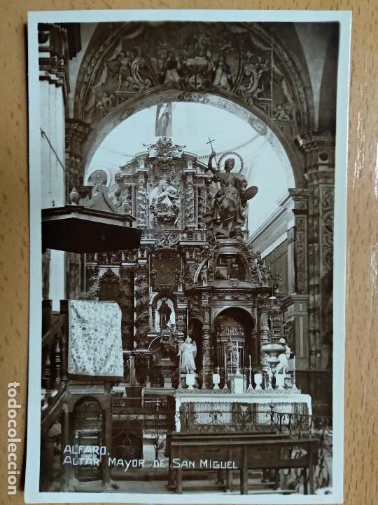 ALFARO. ALTAR MAYOR DE SAN MIGUEL. (Postales - España - La Rioja Antigua (hasta 1939))