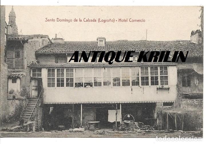 SANTO DOMINGO DE LA CALZADA .- HOTEL COMERCIO .-EDICION G. SÚS (Postales - España - La Rioja Antigua (hasta 1939))