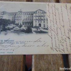 Postales: TARJETA POSTAL REVERSO SIN DIVIDIR AGUAS DE MONDARIZ FACHADA PRINCIPAL HOTEL . Lote 146251202
