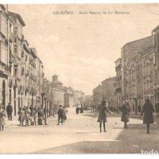 Postales: LOGROÑO (LA RIOJA) MURO BRETÓN DE LOS HERREROS.. Lote 146377594