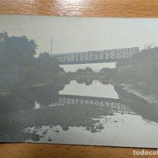 Postales: POSTAL FOTOGRAFICA. PUENTE HIERRO FERROCARRIL, A IDENTIFICAR.. Lote 152149774