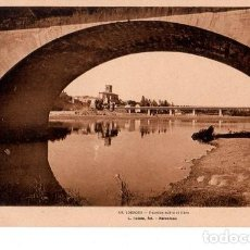 Cartes Postales: TARJETA POSTAL DE LOGROÑO. PUENTES SOBRE EL EBRO. L. ROISIN.. Lote 154636290