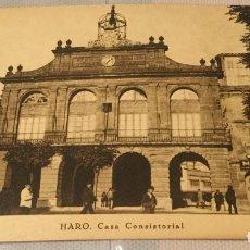 Postales: HARO CASA CONSISTORIAL - VIELA - EXCELENTE ESTADO - SC - RARA. Lote 154850682