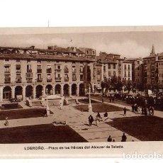 Cartes Postales: TARJETA POSTAL DE LOGROÑO. PLAZA DE LOS HEROES DEL ALCAZAR DE TOLEDO. . Lote 156041298