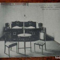 Postales: POSTAL DE LOGROÑO. GRAND HOTEL. LOGROÑO. UNO DE LOS GRANDES DORMITORIOS. PROPIETARIOS: ESTEBAN Y TRO. Lote 156802454