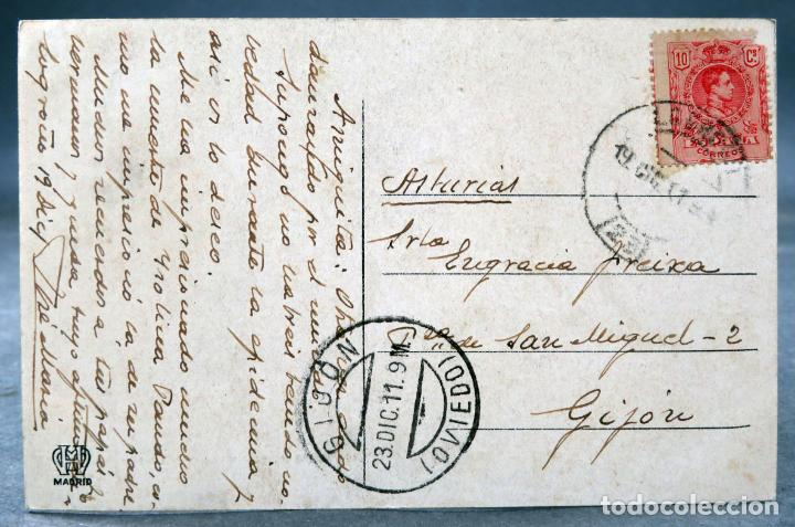 Postales: Postal Logroño Cuartel para Infantería Ingenieros Hijos de Aleson Hauser Menet circulada sello 1911 - Foto 2 - 159985406