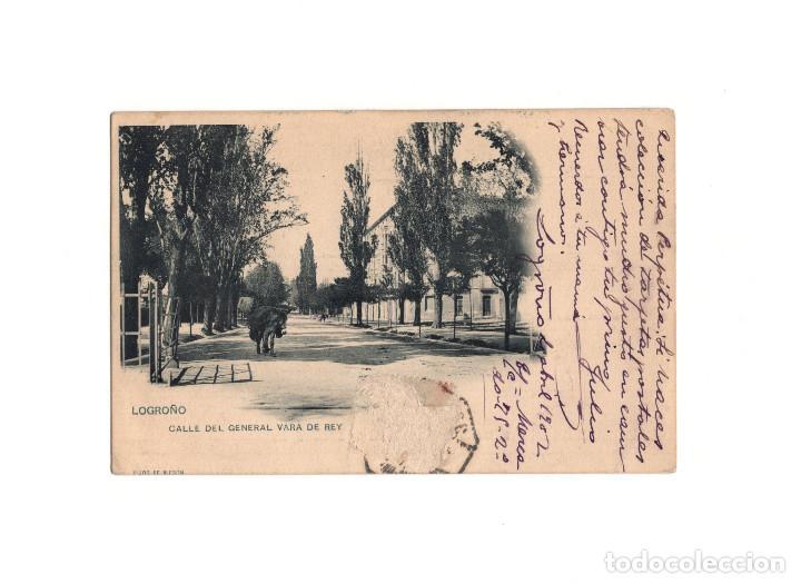 LOGROÑO.(LA RIOJA).- CALLE DEL GENERAL VARA DEL REY. (Postales - España - La Rioja Antigua (hasta 1939))