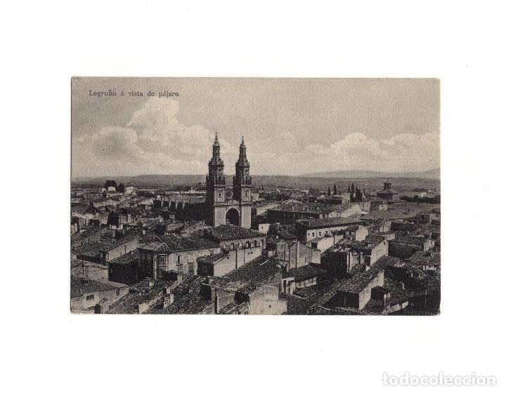 LOGROÑO.(LA RIOJA).- A VISTA DE PÁJARO. (Postales - España - La Rioja Antigua (hasta 1939))