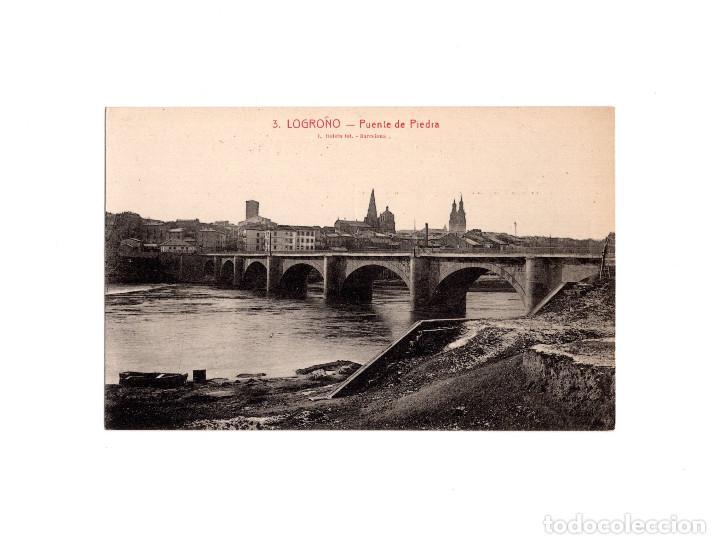 LOGROÑO.(LA RIOJA).- PUENTE DE PIEDRA. (Postcards - Spain - Old La Rioja (until 1939))