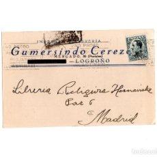 Postais: LOGROÑO.(LA RIOJA).- LIBRERÍA GUMERSINDO CEREZO.. Lote 160504982