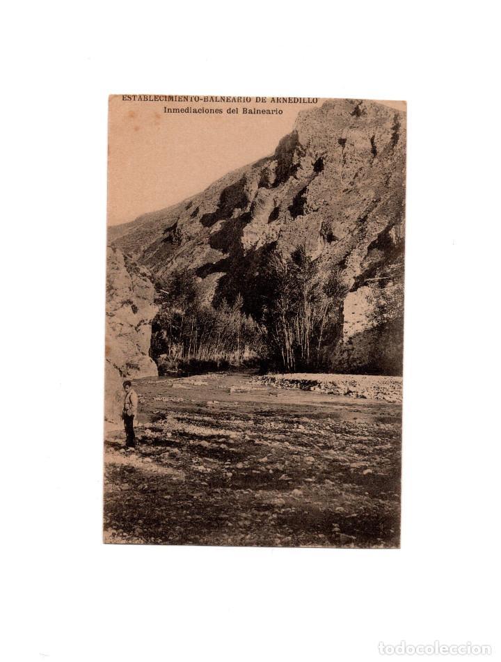 ESTABLECIMIENTO TERMAL DE ARNEDILLO.(LOGROÑO).- INMEDIACIONES DEL BALNEARIO. (Postales - España - La Rioja Antigua (hasta 1939))