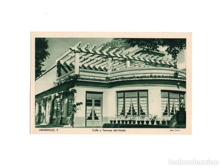 ARNEDILLO.(LOGROÑO).- CAFÉ Y TERRAZA DEL HOTEL. (Postales - España - La Rioja Antigua (hasta 1939))