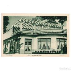 Postales: ARNEDILLO.(LOGROÑO).- CAFÉ Y TERRAZA DEL HOTEL.. Lote 160559966