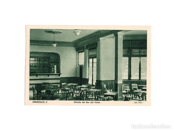 ARNEDILLO.(LOGROÑO).- DETALLE DEL BAR DEL HOTEL. (Postales - España - La Rioja Antigua (hasta 1939))