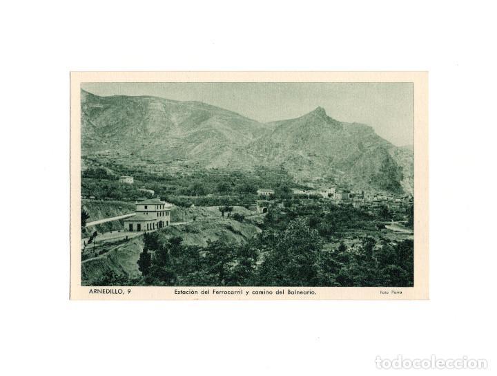 ARNEDILLO.(LOGROÑO).- ESTACIÓN DEL FERROCARRIL Y CAMINO DEL BALNEARIO. (Postales - España - La Rioja Antigua (hasta 1939))