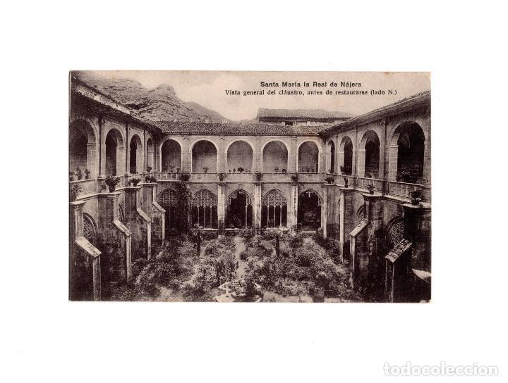 SANTA MARIA LA REAL DE NÁJERA.(LA RIOJA).- VISTA GENERAL DEL CLÁUSTRO, ANTES DE RESTAURARSE. LADO N (Postales - España - La Rioja Antigua (hasta 1939))