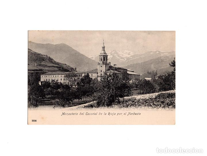 MONASTERIO DEL ESCORIAL DE LA RIOJA POR EL NORDESTE (Postales - España - La Rioja Antigua (hasta 1939))