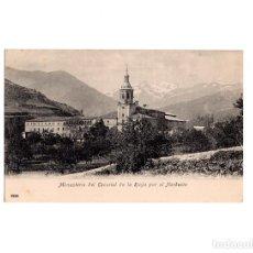 Postales: MONASTERIO DEL ESCORIAL DE LA RIOJA POR EL NORDESTE. Lote 160658886
