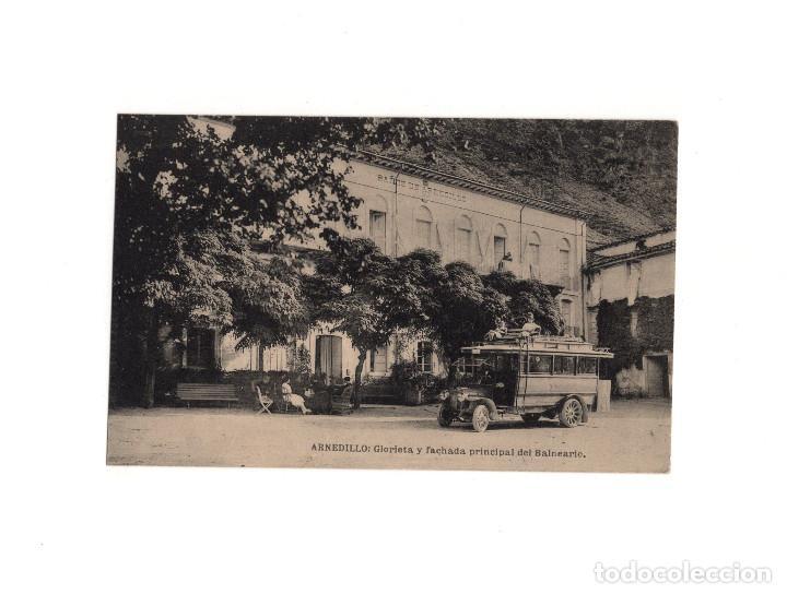 ARNEDILLO.(LOGROÑO).- GLORIETA Y FACHADA PRINCIPAL DEL BALNEARIO. (Postales - España - La Rioja Antigua (hasta 1939))
