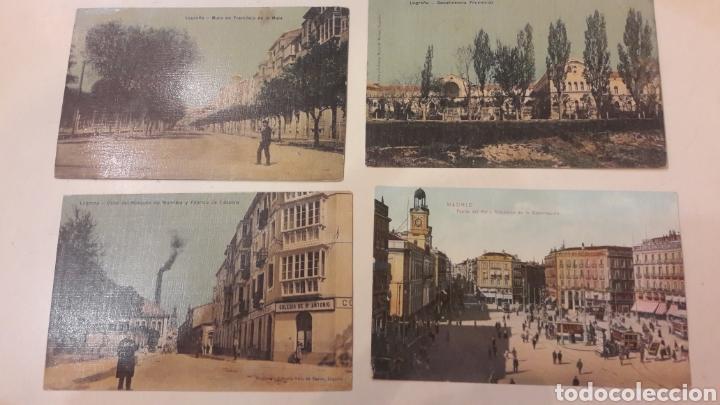 1900 ANTIGUAS POSTALES LOGROÑO MADRID (Postales - España - La Rioja Antigua (hasta 1939))
