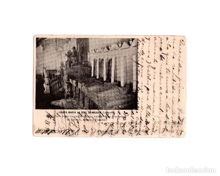 SANTA MARIA LA REAL DE NÁJERA.(LA RIOJA).- EL PARTEÓN. REYES NAVARRA Y CASTILLA. (Postales - España - La Rioja Antigua (hasta 1939))