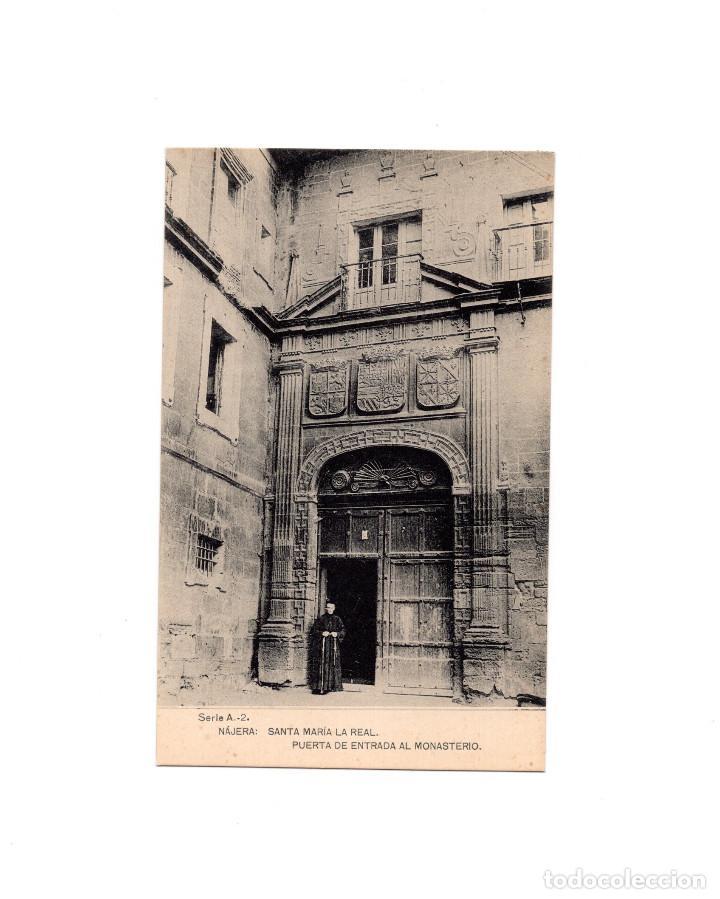 SANTA MARIA LA REAL DE NÁJERA.(LA RIOJA).- PUERTA DE ENTRADA AL MONASTERIO. (Postales - España - La Rioja Antigua (hasta 1939))
