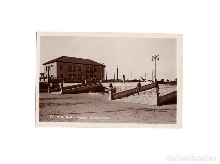 CALAHORRA.(LA RIOJA).- PASEO CANALEJAS. POSTAL FOTOGRÁFICA. (Postales - España - La Rioja Antigua (hasta 1939))
