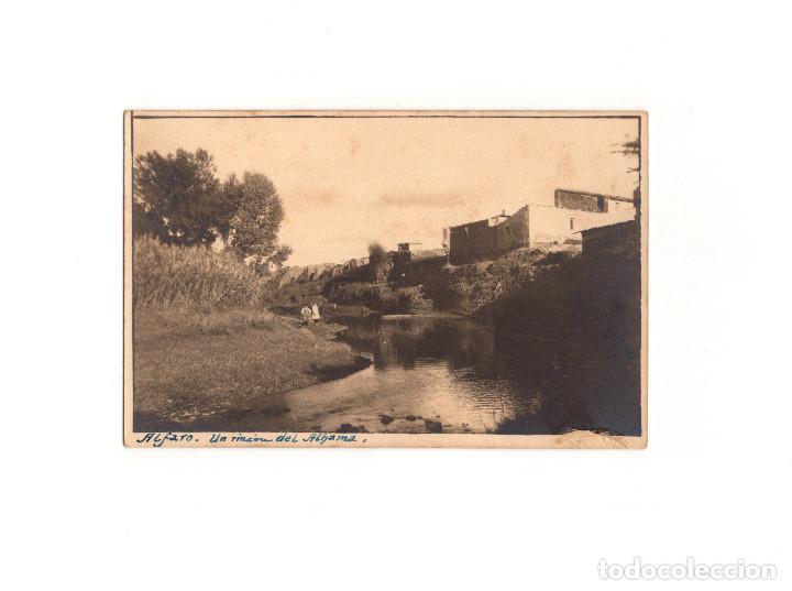 ALFARO .(LA RIOJA).- UN RINCÓN DEL ALHAMA. POSTAL FOTOGRÁFICA. (Postales - España - La Rioja Antigua (hasta 1939))