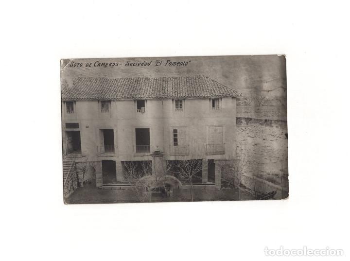 SOTO DE CAMEROS.(LA RIOJA).- SOCIEDAD. EL FOMENTO. POSTAL FOTOGRÁFICA (Postales - España - La Rioja Antigua (hasta 1939))
