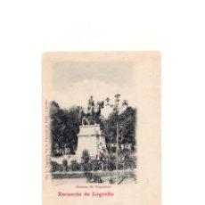 Postales: LOGROÑO.(LA RIOJA).- ESTATUA ESPARTERO. RECUERDO.. Lote 164824018