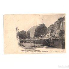 Postales: TERMAS DE ARNEDILLO.(LA RIOJA).- PUENTE Y EDIFICIOS DEL ESTABLECIMIENTO.. Lote 164824782