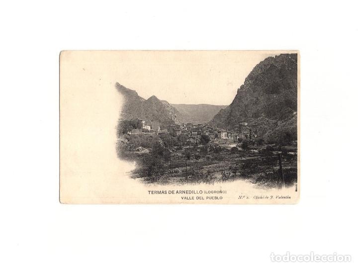 TERMAS DE ARNEDILLO.(LA RIOJA).- VALLE DEL PUEBLO. (Postales - España - La Rioja Antigua (hasta 1939))