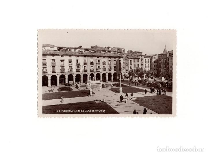 LOGROÑO.(LA RIOJA).- PLAZA DE LA CONSTITUCIÓN. (Postales - España - La Rioja Antigua (hasta 1939))