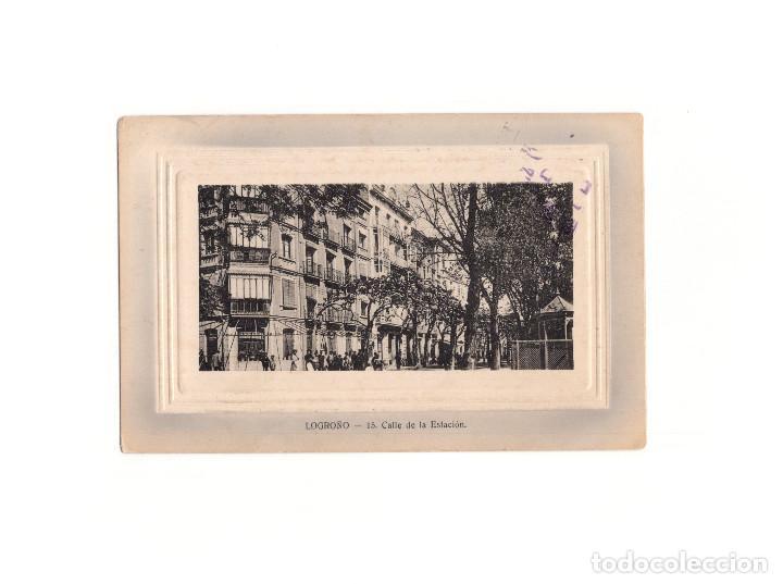 LOGROÑO.(LA RIOJA).- CALLE DE LA ESTACIÓN. (Postales - España - La Rioja Antigua (hasta 1939))