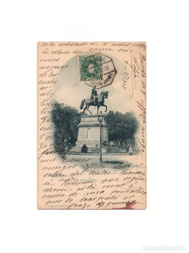 LOGROÑO.(LA RIOJA).- ESTATUA DE ESPARTERO. (Postales - España - La Rioja Antigua (hasta 1939))