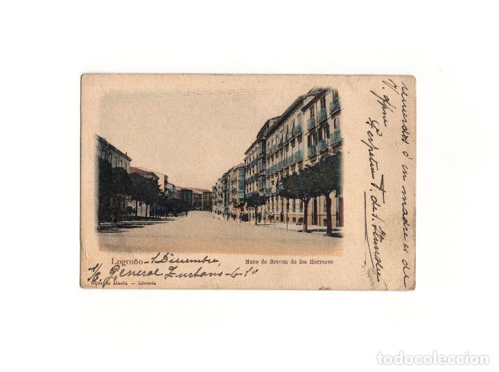 LOGROÑO.(LA RIOJA).- MURO DE BRETON DE LOS HERREROS. (Postales - España - La Rioja Antigua (hasta 1939))