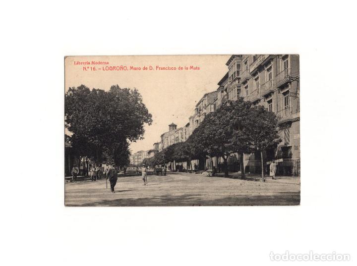 LOGROÑO.(LA RIOJA).- MURO DE DON FRANCISCO DE LA MATA. (Postales - España - La Rioja Antigua (hasta 1939))