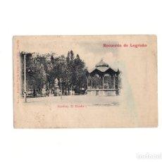Postales: LOGROÑO.(LA RIOJA).- ESPOLÓN. EL KIOSCO. RECUERDO. Lote 164856750