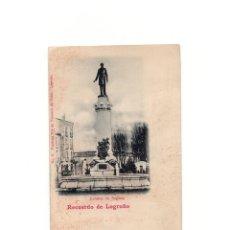 Postales: LOGROÑO.(LA RIOJA).- ESTATUA DE SAGASTA.RECUERDO.. Lote 164857418