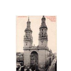 Postales: LOGROÑO.(LA RIOJA).- TORRE DE SANTA MARIA DE LA REDONDA.. Lote 164922554
