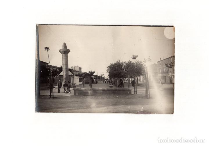 CALAHORRA.(LA RIOJA).- LA MOZA O ROLLO JURISDICCIONAL. POSTAL FOTOGRÁFICA. (Postales - España - La Rioja Antigua (hasta 1939))