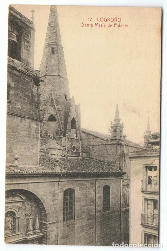 POSTAL LOGROÑO 17 SANTA MARÍA DE PALACIO (Postales - España - La Rioja Antigua (hasta 1939))