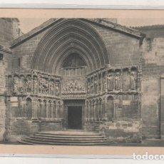 Postales: LOGROÑO NÁJERA. PORTADA DE SAN BARTOLOMÉ. BEBED VINO DE RIOJA. 1932 DIA DEL VINO. Lote 172623717