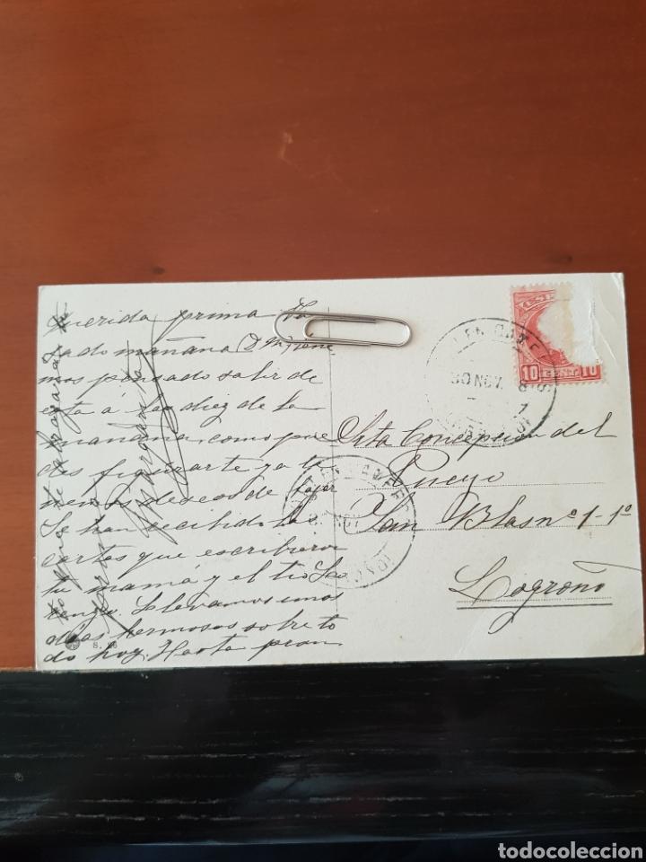 Postales: Postal Fotográfica Unica Cabezón de Cameros (La Rioja) 1908 - Foto 2 - 176098729