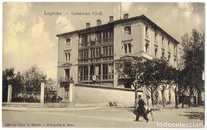 POSTAL FOTOGRÁFICA LOGROÑO GOBIERNO CIVIL (Postales - España - La Rioja Antigua (hasta 1939))