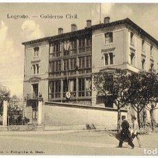 Postales: POSTAL FOTOGRÁFICA LOGROÑO GOBIERNO CIVIL . Lote 176349398
