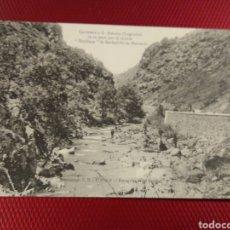 Postales: CARRETERA A SAN ASENSIO LOGROÑO. EN SU PASO POR EL MONTE ESTILLANA DE BARBADILLO DE HERREROS.. Lote 178789291